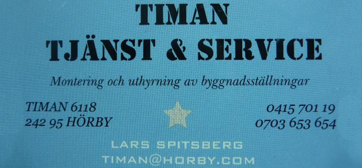 Timan Tjänst & Service Logotyp Logga