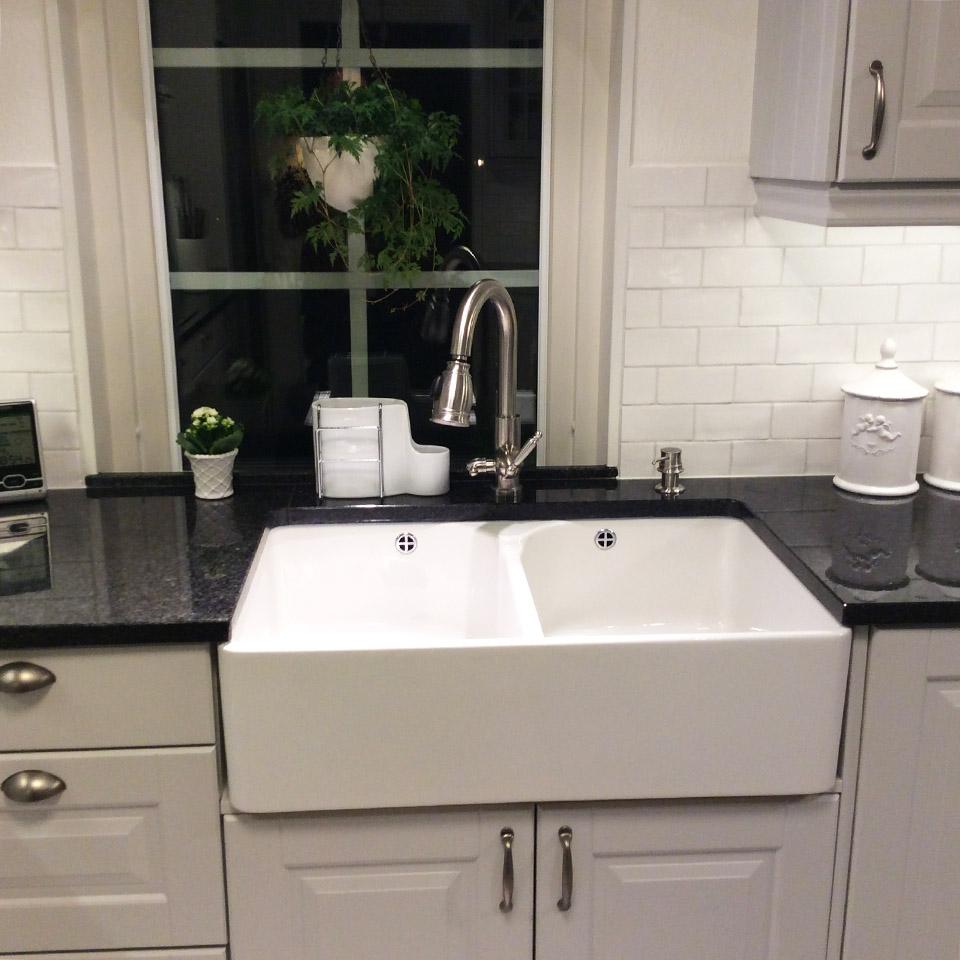 Smedstorp kök diskho diskbänk marmor