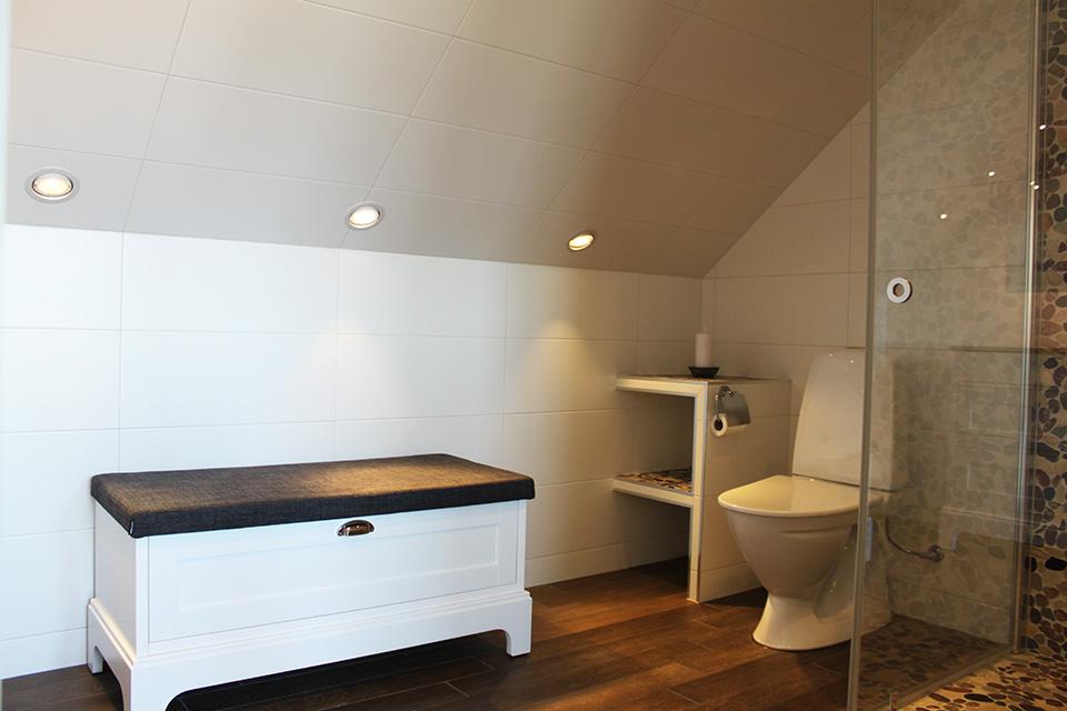Badrum - Aspen toalett och bänk